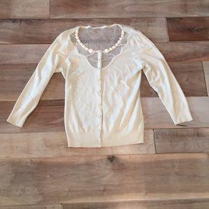 Tops - Beautiful Ivory Cardigan Top- Medium